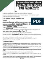 Circular Fi de Curs 2012