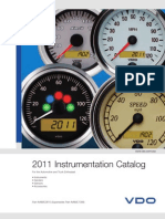 VDO 2011 Instrumentation Catalog Reprint