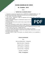 ASAMBLEA DE COROS