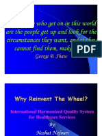 Why Reinvent the Wheel by Dr. Nashat Nafouri