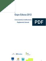 Expo Educa 2012 1 Mayo Convocatoria