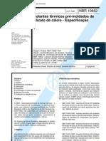 NBR 10662 - Isolantes Termicos dos de Silicato de Calcio