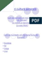 Întrebări cultură generală