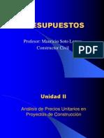 PRESUPUESTO UNIDAD 2