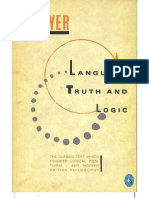 Ayer - Language, Truth and Logic