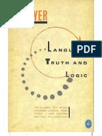 Ayer - Language, Truth and Logic