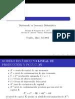 Modelo Dinamico No Lineal de Produccion y Polucion