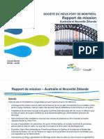 Rapport de mission - Australie et Nouvelle Zélande