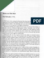 Paul Schrader - Notes on Film Noir