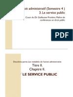 PDF Droit Administratif - Semestre 4 Service Public