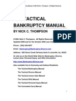 The Tactical Chapter 7 13 Bankruptcy Manual