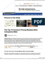 The Top 10 Common Pricing Mistakes Most Companies Make by Per Sjofors