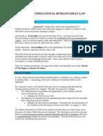 Basics of International Humanitarian Law
