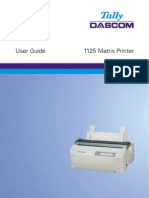 Tally 1125-User Guide