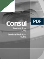 Manual Lavadora Consul Mare e Mare Super