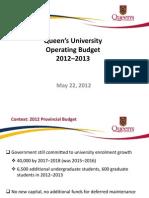2012-13 Budget May 2012 for Pre-Senate