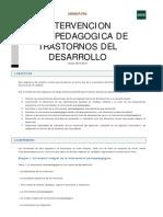 Intervención psicopedagógica de trastornos del desarrollo