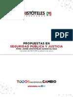 Propuesta en Seguridad Pública y Justicia