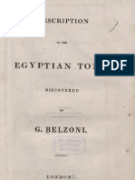 G. Belzoni - 1821 - Description of the Egyptian Tomb Discovered by G. Belzoni