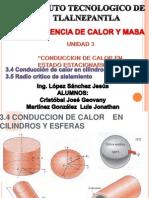 Conduccion de Calor en Cilindros y Esferas