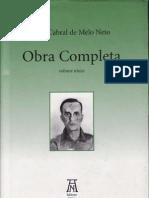 NETO, João Cabral de Melo - Uma faca só lâmina IN Obra Completa