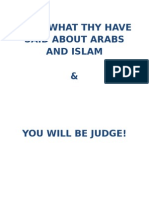 read what thy have said about arabs and islam