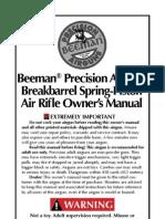 Beeman Break Barrel Air Rifle Manual