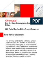 Day 2 Case Management, Case Costing & Billing Pm