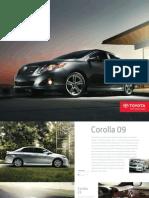 Brochure toyota Corolla 2009