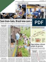 Jornal O Globo de 29 de maio de 2012 pag 25 sobre setor ferroviario
