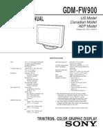 FW900 Service Manual