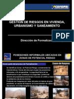 GESTION DE RIESGOS EN VIVIENDA, URBANISMO Y SANEAMIENTO.