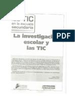 Las TIC en la Escuela Secundaria_La investigación Escolar.
