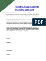 El Análisis AODF es una variante de la clásica herramienta de negocio FODA