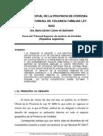 Ley de violencia y datos del Poder judicial. Situación Córdoba- Cafure de Batistella