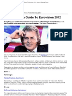 The Alternative Guide to Euro Vision 2012 _ Music _ Sabotage Times
