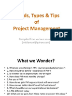 Trends, Types and Tips of Project Management