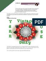 Crochet Vintage Yarn Rose Doily