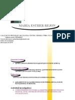 Cuuriculum Vitae. Maria Esther Rejon Selem