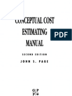 Cost estimating manual for pipelines and marine structures: new print….