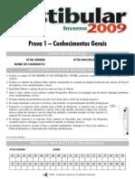 UEM Vestibular de Inverno 2009 - Prova 1
