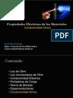 des Electric As Conductividad Ionica