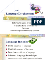 Lee, B Speech & Language Services in Schools