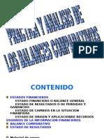BALANCE COMPARATIVO Y ESTADO DE CAMBIOS EN LA SITUACIÓN FINANCIERA