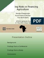 246WB -Managing Risks in Financing Agriculture - Renate Kloeppinger-Todd