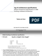 Model Checking of Architecture Specifications
