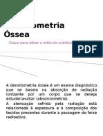 AULA DE DENSITOMETRIA ÓSSEA