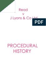 Read v Lyons