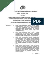 Perkap No 03 Th 2008 Ttg Pembentukan Ruang Pelayanan Khusus Dan Tata Cara