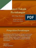 Materi Teknik Persidangan
